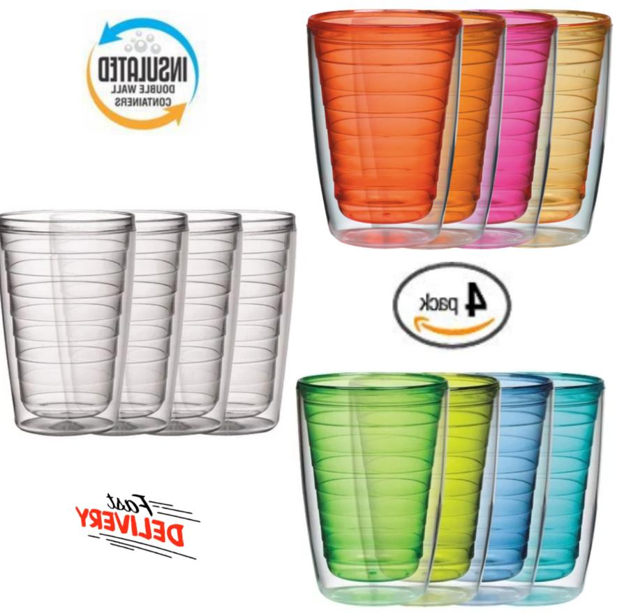 Plastic Tumblers Double Wall Insulation 16 Oz Warm Or Cold B