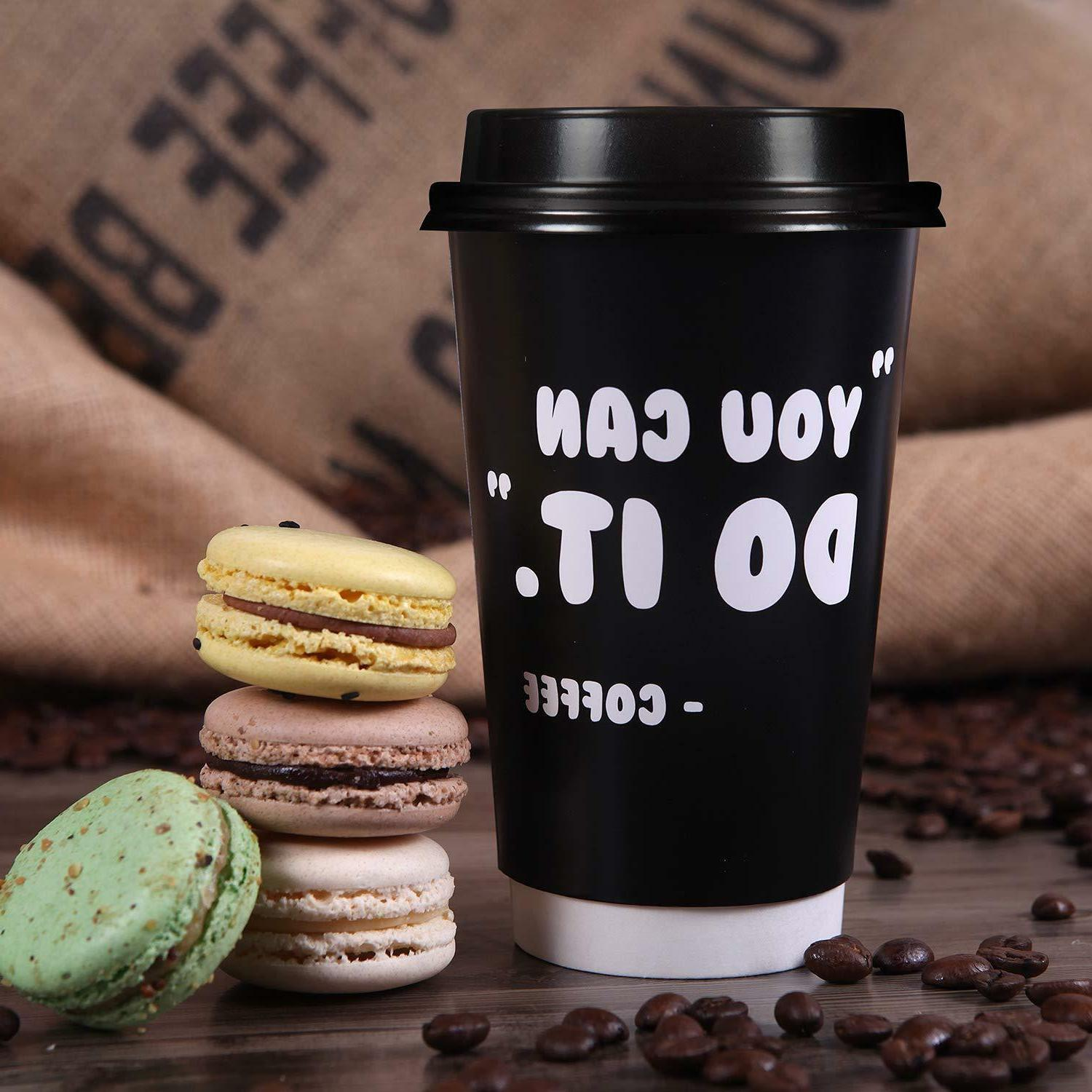 Premium 16oz Coffee Cups - Fun