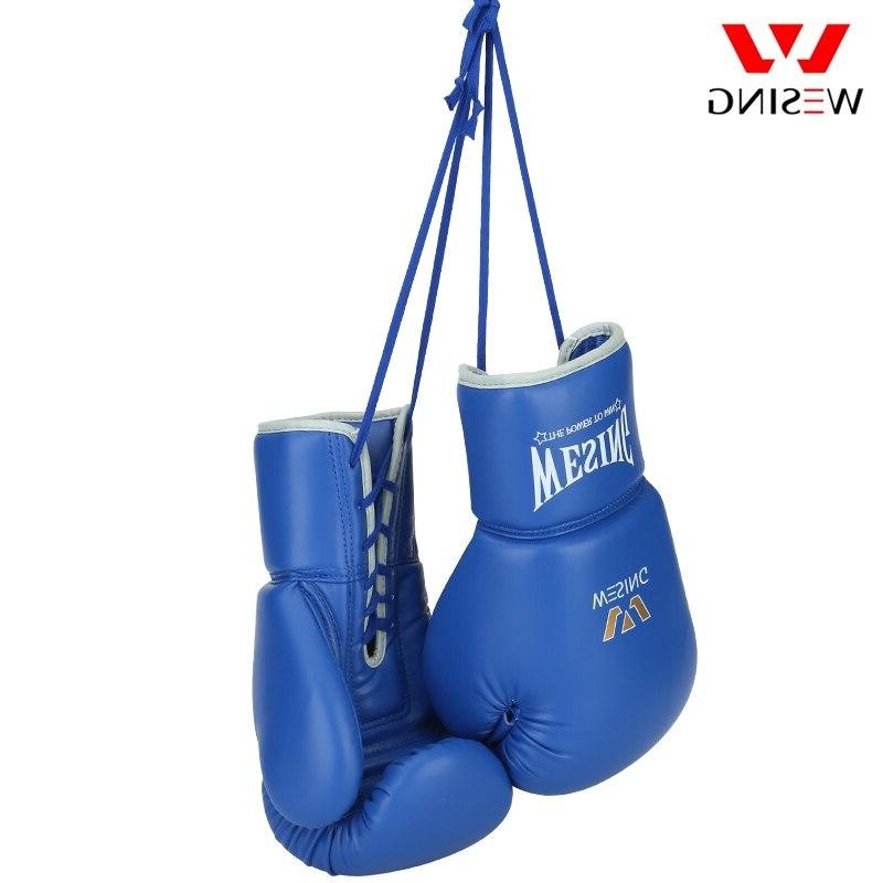Wesing Pro Boxing Large Size Competition Leather Training Boxing Gloves <font><b>16</b></font>