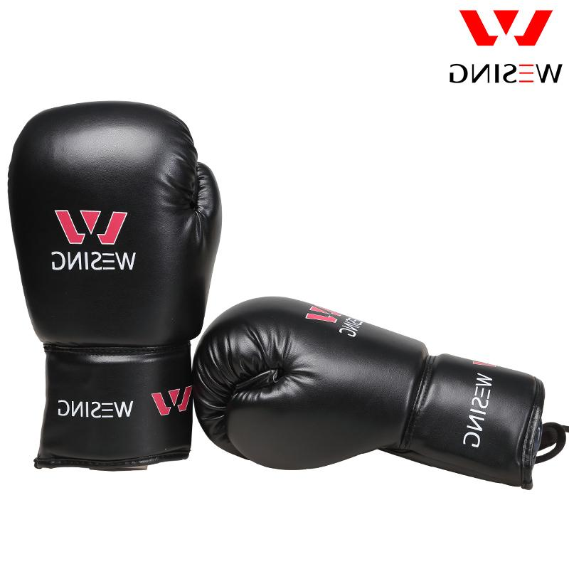 Wesing Pro Tied Boxing with Large Competition Leather Training Boxing