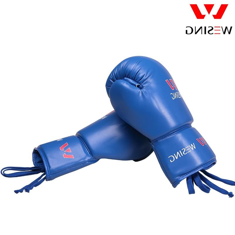 Wesing Tied Boxing Sparring Large Size Leather <font><b>16</b></font> <font><b>Oz</b></font>