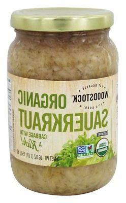 Woodstock Sauerkraut - Organic - Cabbage - 16 oz - case of 1