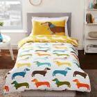SAUSAGE DOG SINGLE DUVET COVER SET 2 in 1 NEW