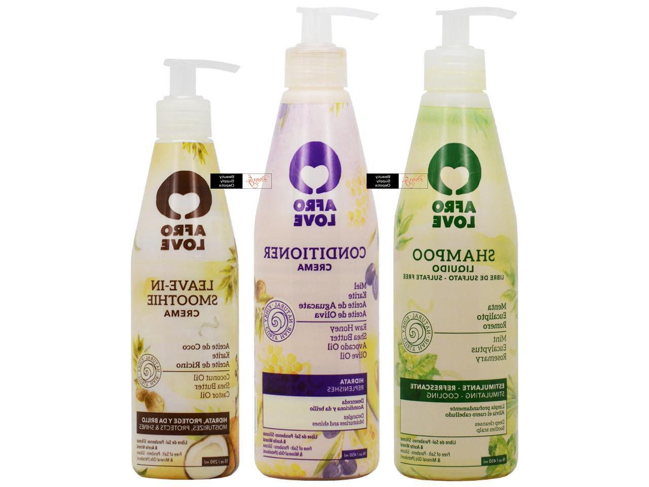 Afro Love Shampoo 16oz & Conditioner 16oz & Leave-in Smoothi