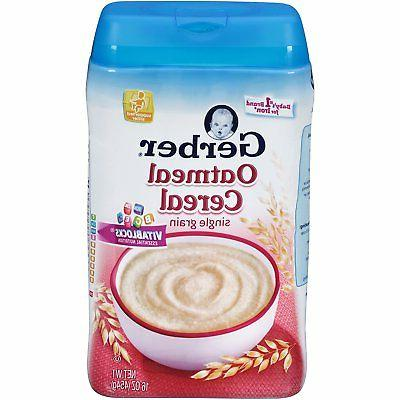 single grain oatmeal baby cereal 16 ounce