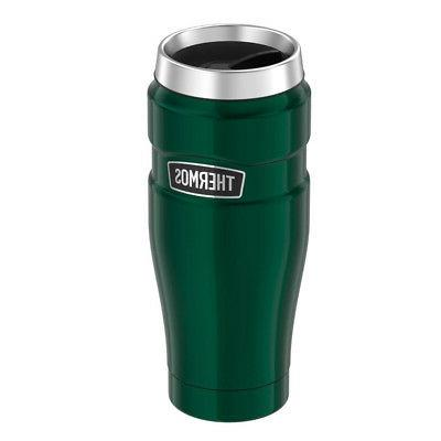 Thermos Stainless King 16 Ounce Travel Tumbler, Pine Green