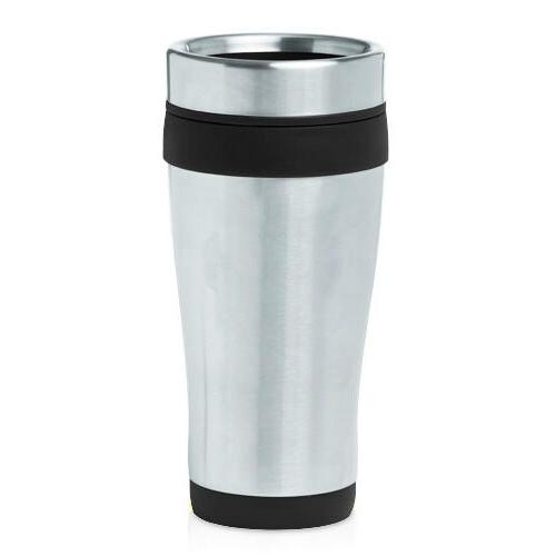 stainless steel insulated 16oz travel mug coffee