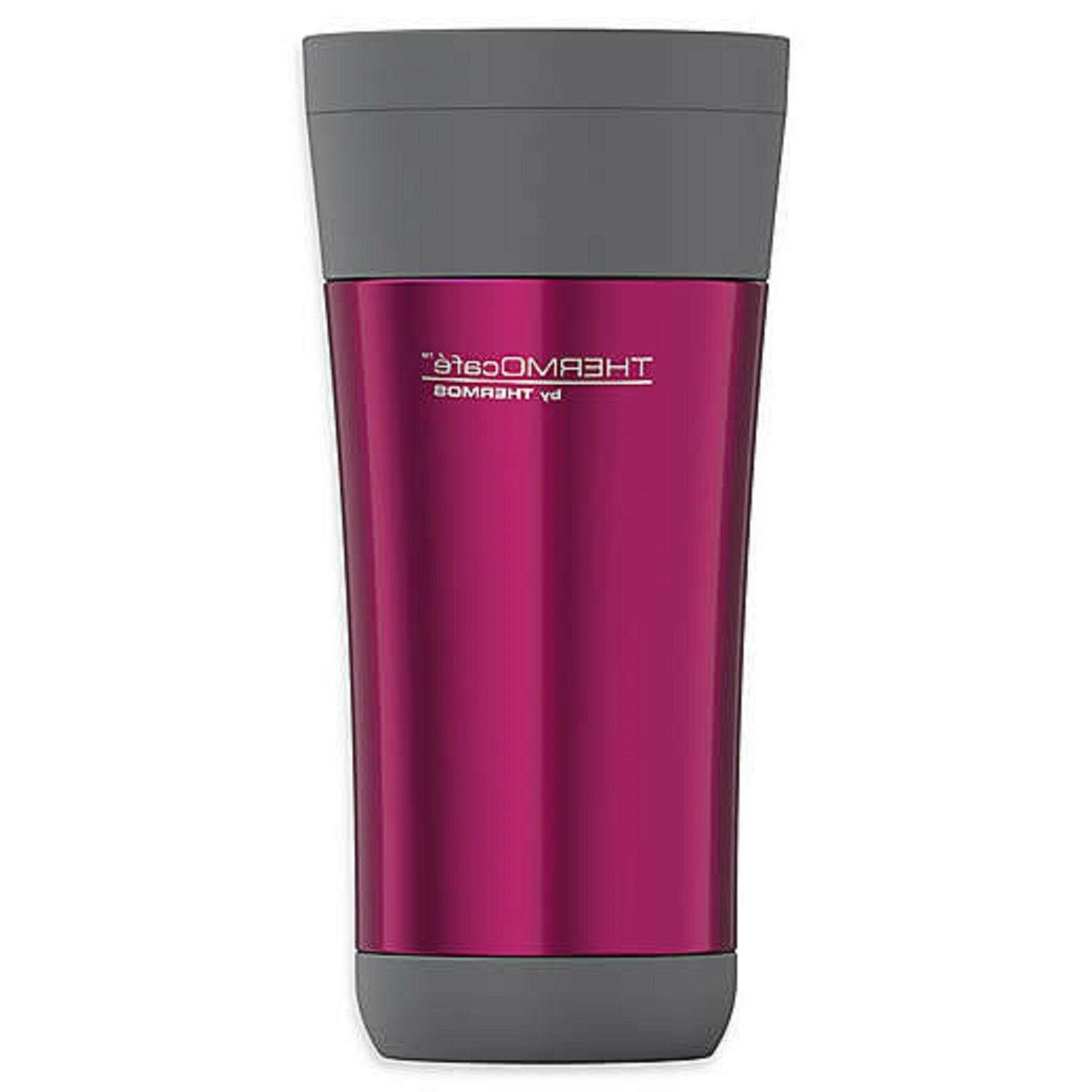 Thermos THERMOcafe 16 oz. Travel Tumbler Pink  Silver NWT