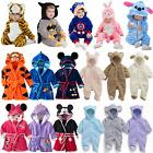 Toddler Baby Kids Cosplay Pajamas Hooded Kigurumi Animal Rom