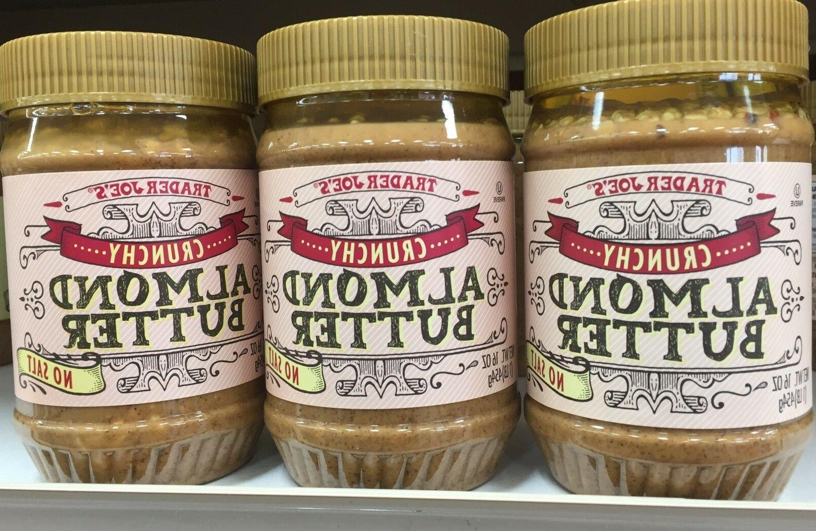 trader joe s crunchy almond butter no