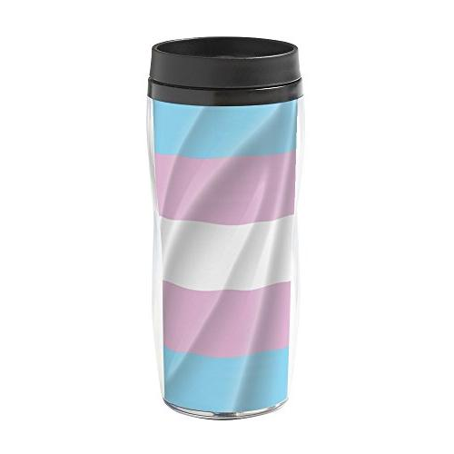 transgender flag 16 oz travel mug