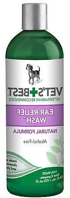 vet s best ear relief wash cleaner