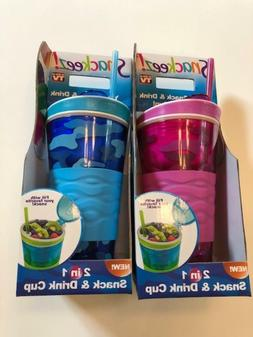 Snackeez Large 16oz Drink and Snack Cup - Your Choice of Col