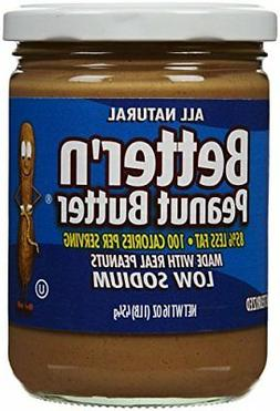 Better N Peanut Butter Low Sodium Low Fat Peanut Spread, 16