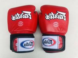Fairtex Muay Thai Kick Boxing Gloves 16 oz - Red US STOCK!!