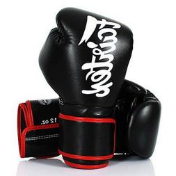 FAIRTEX MUAY THAI KICK BOXING GLOVES BGV14 BLACK COLOR MMA S