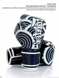 FAIRTEX MUAY THAI KICK BOXING GLOVES BGV14BLU JAPANESE ART -