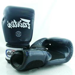 FAIRTEX MUAY THAI KICK BOXING GLOVES BLUE COLOR BREATHABLE B