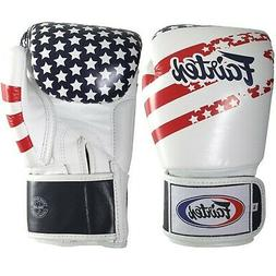 Fairtex Muay Thai Style Training Sparring Gloves 16 oz USA