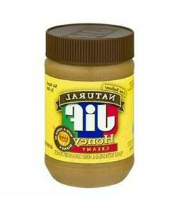 Jif Natural Creamy Peanut Butter with Honey 16 Ounces