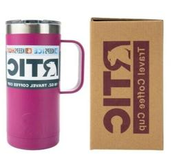 New RTIC 16oz Travel Coffee Cup Mug ~ VERY BERRY Stainless S