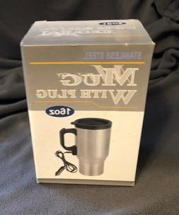 NEW Stainless Steel 16 Oz. Travel Car Mug with Lid & Lighter