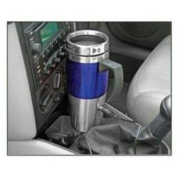 North Point HW4274 Blue Heated Stainless Steel Travel Mug wi