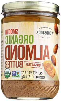 Woodstock Nut Butter - Organic - Almond - Smooth - Unsalted