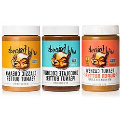 Wild Friends Foods Natural Peanut Butter Variety Pack, Peanu