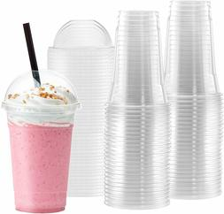 Netko Plastic Cups With Dome Lids 50 Pack  Of 16 OZ Disposab