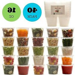 Plastic Food Storage Containers with Lids - Restaurant Deli