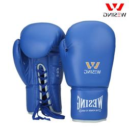 Wesing Pro Tied Style Boxing Sparring Gloves with Large Size
