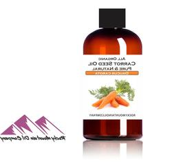 PURE UNREFINED ORGANIC CARROT SEED OIL COLD PRESSED 2 4 8 16