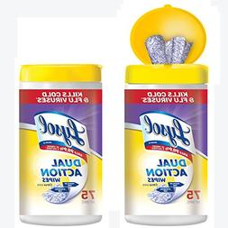 Lysol Dual Action Disinfecting Wipes Value Pack, Citrus, 150