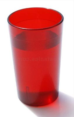 16 OZ RED 12PK Restaurant Break Resistant Drinking Glass Cup