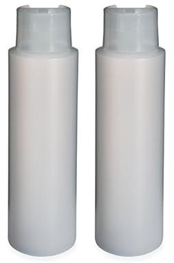 "2 Pack Refillable 16 Ounce HDPE Squeeze Bottles With ""Stand"