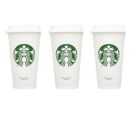 STARBUCKS Reusable Cups Recyclable Grande 16 oz Plastic Trav