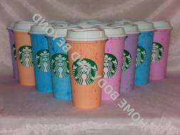 STARBUCKS Reusable Grande 16 OZ Plastic Coffee Tea Hot Cup M