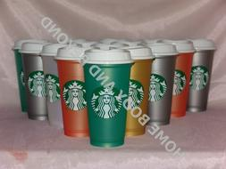 STARBUCKS Reusable Grande 16 OZ Plastic Shimmery Hot Cup Mug