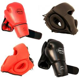 New 2 Pairs / Sets 2 Head Gears 2 Pair Boxing Punching Glove