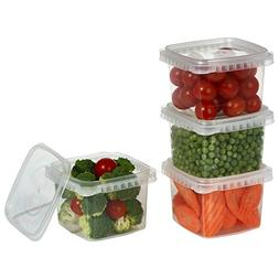Clear Deli Food Storage Containers With Lids 16 oz Tamper ev