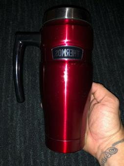Thermos Stainless King 16 Ounce Travel Mug with Handle, Cran