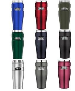 Thermos Stainless King 16-Ounce Travel Tumblers Green / Blue