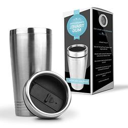 Stainless Steel Termo Travel Mug by Just-f-Care, 16 oz., Eas