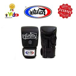 Fairtex Super Sparring Gloves Open Thumb White/Black TGO3