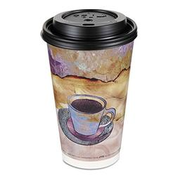 Thermo Grip Monaco Coffee Cup with Lids, Paper, 16oz, Hot, 4