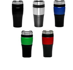 Travel Mug 16 oz. Black Acrylic Color Accent Tumblerwas was
