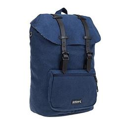 HOOPOE Urban-Ido, Navy Blue 16oz Waxed Canvas Outdoor Backpa