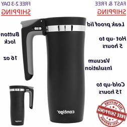 Vacuum Thermos Autoseal 16 oz Stainless Steel Travel Mug Cup