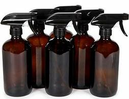 Vivaplex, 6, Large, 16 oz, Empty, Amber Glass Spray Bottles
